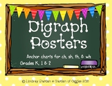 Digraph Anchor Charts ch, sh, th and wh