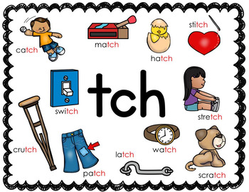 Digraph Posters - ch,ck,dge,kn,ng,ph,sh,tch,th,wh,wr
