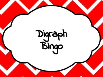 Digraph Bingo!
