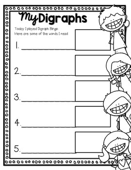 Digraph Bingo--Small Group Digraph Game for K-2