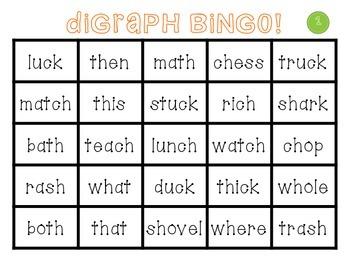 Digraph Bingo {a literacy center freebie}