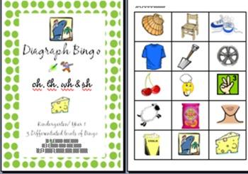 Digraph Bingo - ch, sh, th, wh