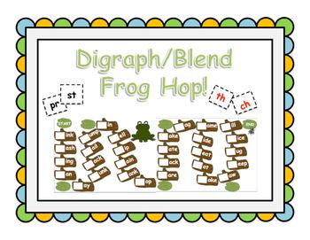 Digraph/Blend Frog Hop Board Game!