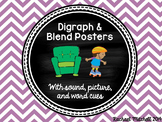 Digraph & Blend Posters- Bright Chevron