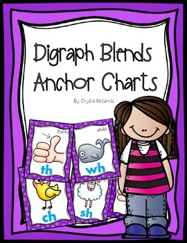 Digraph Blends Posters (sh, ch, th, wh, ph) 2 Sizes