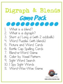 Digraph & Blends Game Pack