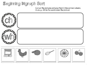 Digraph & Blends Practice Pack