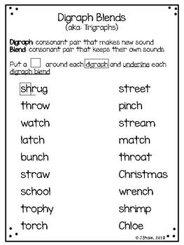 Digraph Blends (aka Trigraphs)