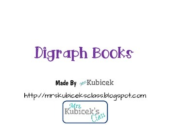 Digraph Books for teaching