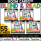 Digraph Boom Cards™️ for Reading words with Digraphs Dista
