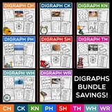 Digraph Activities | CH, CK, KN, PH, SH, TH, WH, WR | Word Work Centers | BUNDLE