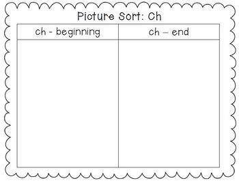 Digraph Bundle: Ch, Sh, Th {Phonics/Word Work Activities}