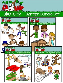 Digraphs / Word Families Clip art BUNDLE
