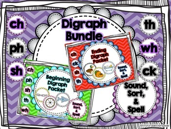 Digraph Bundle: Sound, Sort, Spell Packet
