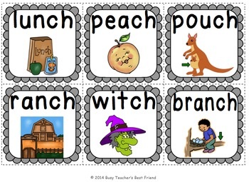 Digraph CH Flashcard Game