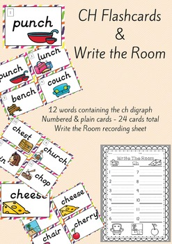 Digraph CH Flash Cards and Write the Room