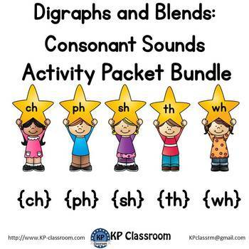Digraph CH, PH, SH, TH, WH Consonant Sound Activity Packet
