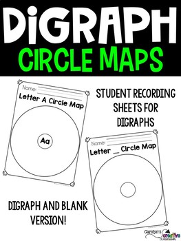 Digraph CH, SH, PH, WH, TH - Anchor Chart, Cards, Circle Maps, & more!