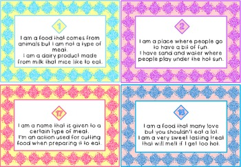 Digraph CH Words- Inference Challenge Riddle Write the Room Task Cards!