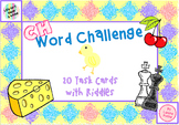 Digraph CH Words- Inference Challenge Riddle Write the Roo