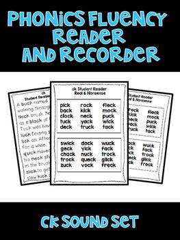 Digraph CK - Phonics Fluency Assessment
