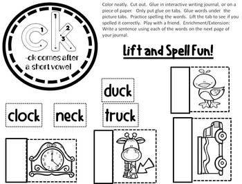 Phonics K & digraph CK, Rhyming, Write the Room: Word Work & More!