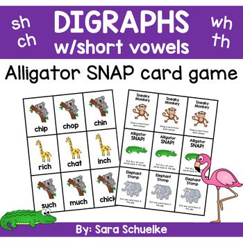 Digraphs Game - Alligator Snap