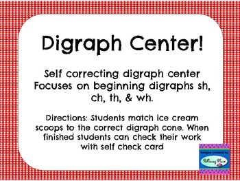 Digraph Center - sh ch th wh