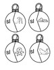 Digraph Christmas Ornament Puzzles