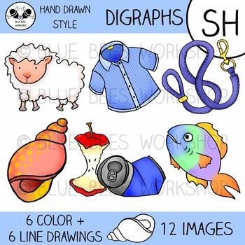 Digraph Clip Art - SH