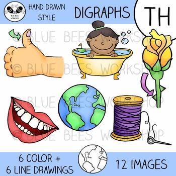 Digraph Clip Art - TH