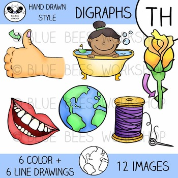 Digraph Clip Art - TH