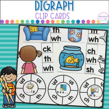 Digraph Clip Cards