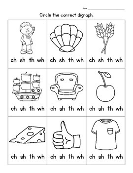 Digraph Clip Cards - Clip The Sounds.  Includes Digraphs ch, sh, th, wh