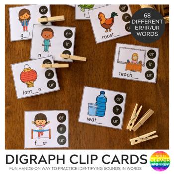 Digraph Clip Cards - ER IR UR