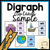 Digraph Clip Cards Free Sample