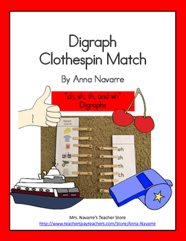 Digraph Clothespin Match
