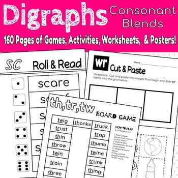 Digraph Consonant Blend {No Prep Activites}
