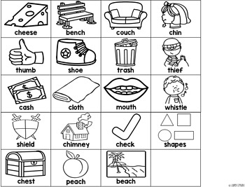 Digraph Craft Activity -- Hanging Mobile Ch Sh Th Wh