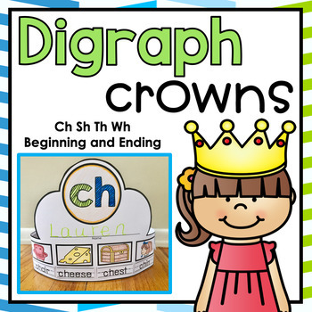 Digraph Crowns Activity Ch Sh Th Wh