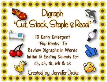 Digraph 'Cut, Stack, Staple & Read' Books!  ~10 Books~ CC Aligned!