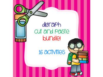 Digraph Cut and Paste Bundle! {16 activities}