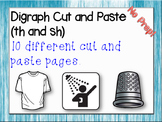 Digraph Cut and Paste (th and sh)