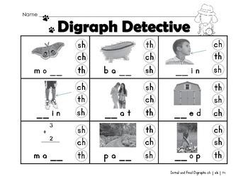 Digraph Detective- FREEBIE
