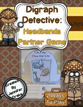 Digraph Detective: Headbands Partner Game for ID-ing Initial & Ending Digraphs