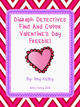 Digraph Detectives Find & Color- Valentine's Day Freebie!