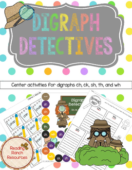 Digraph Detectives Phonics Center Board Game