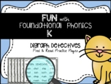 FUNdational Phonics: Digraph Detectives: ch sh th wh ck  D