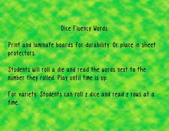 Digraph Dice Fluency