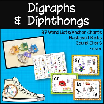 Digraph & Dipthong Flashcards & More! - Bundle